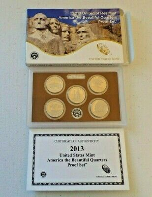 2013 United States Mint America The Beautiful Quarters Proof Set of 5 -Unopened