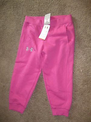 NWT UNDER ARMOUR GIRLS 80% COTTON CAPRI PANTS SIZE YL L PINK *NEW* Large