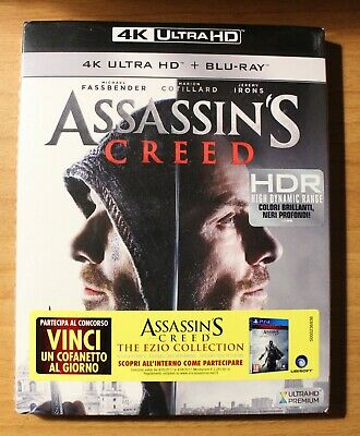 Assassin's Creed,4K Ultra Hd + Blu-Ray,2 Dischi,cofanetto Nuovo Sigillato