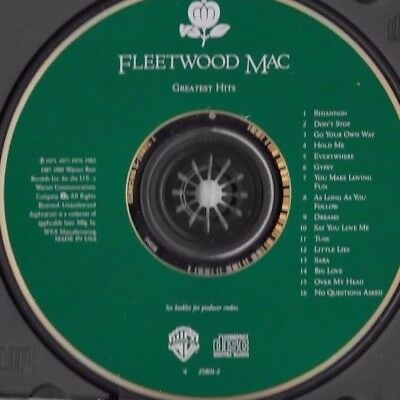 FLEETWOOD MAC * Greatest Hits * 1 FROM LIGHTLY USED CD * As Many, $3. SHIP