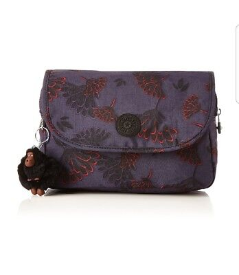 c5d2e29b1eb BNWT Kipling Dolores printed cosmetic toiletry pouch floral night Rrp £54