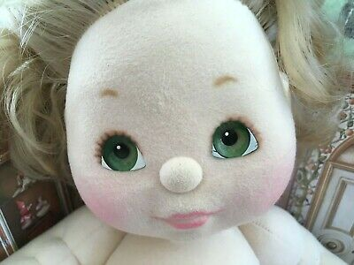 MY CHILD BLONDE ASH DOLL VINTAGE MATTEL 1980's HEART GREEN EYES