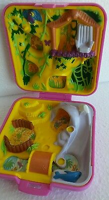 Vintage Bluebird Polly Pocket Wild Zoo World Pink Compact 1989