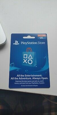 Sony Playstation Network $25 USD Card - PSN 25 Dollar - PS4 PS3 PSP USA Only