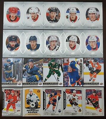 2018-19 Upper Deck Series 2 Insert LOT of 20 OPC UD Rookie Portraits UD Canvas