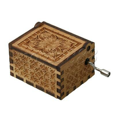 Wooden Music Box Retro Carved Vintage Classic Musical Box for kids