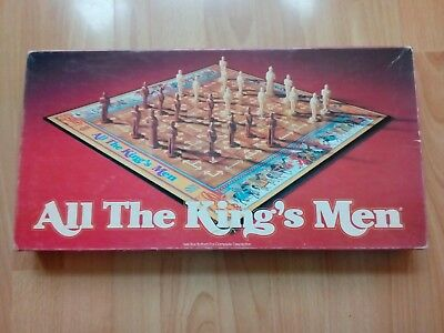 All the Kings Men Vintage Strategy Board Game Parker Brothers 1979 100% Complete