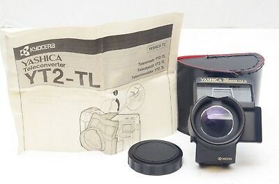Yashica YT2-TL Teleconverter Lens Adapter for T2 35mm Film Camera, Minty w/Case