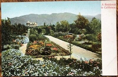 1907 California Postcard: Residence/Estate Home in Los Angeles, CA