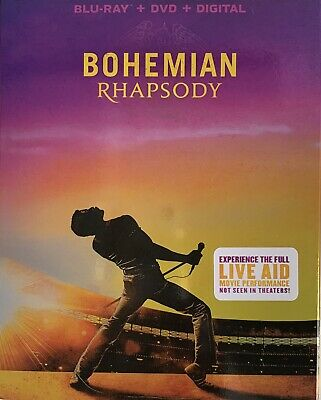 BOHEMIAN RHAPSODY ~ Blu-Ray + DVD + Digital *New *Factory Sealed
