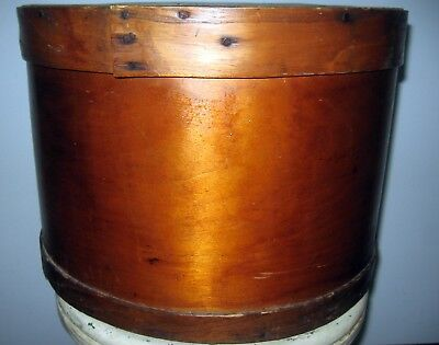 EARLY GENERAL STORE candy  FIRKIN  SUGAR BUCKET cheese nails wood dairy pail