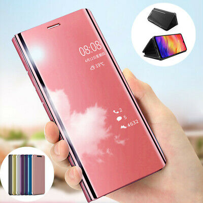 Slim Cover Luxury Mirror Clear View Flip Stand Case for Xiaomi Redmi Note 7/ Pro