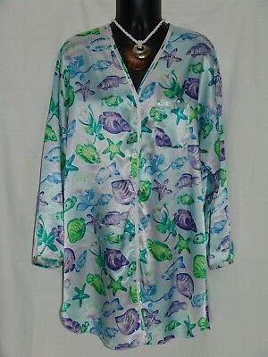 Victoria's Secret Sleep Shirt S blue-green ocean victorias victoria pajama top
