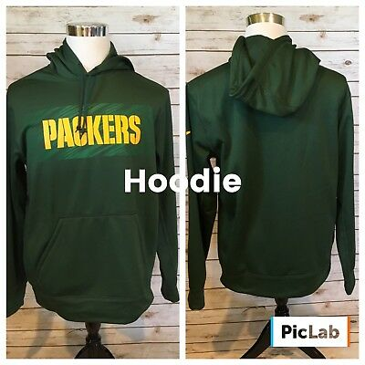 competitive price 1610f 65739 NIKE NFL GREEN Bay Packers Pullover Hoodie Mens M Therma Fit Kangaroo Pkt  NEW