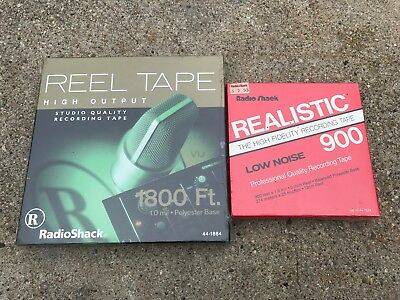 """(2) NOS Realistic 1800ft High Output & 900ft High Fidelity 1/4"""" Reel Tape"""