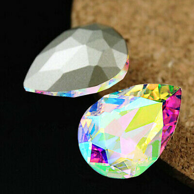 10pcs Wholesale Faceted Teardrop glass crystal Charm Loose Spacer beads kthj