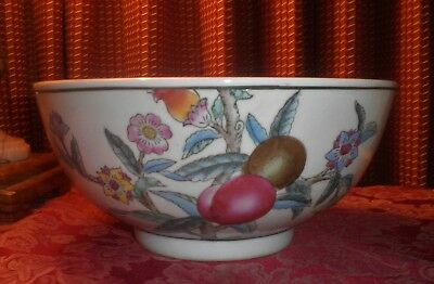 Beautiful Vintage Old Chinese Pomegranate Design Porcelain Bowl