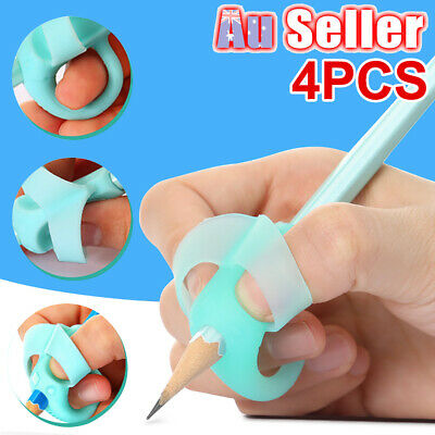 4Pcs Writing Posture Pencil Holder Correction Tool Aid Children Pen EU Grip