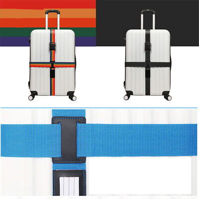 Suitcase Cross Luggage Strap Coded Belt Baggage Secure Travel 3 Dial Safe Lock