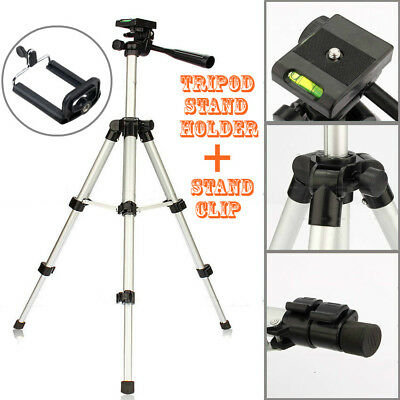 Portable Aluminum Tripod Mount Digital Camera Camcorder Fishing Lamp Stand AfCH