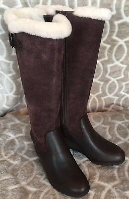44db3e59cfb UGG WOMEN'S SIZE 6 Mischa Stout Brown Knee High Waterproof Leather ...