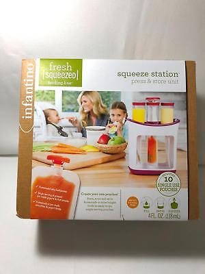 Infantino Fresh Squeezed Squeeze Station Press & Store Unit Baby Food Maker