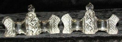 Rare Pair Early 19Th Century Irish Lead Crystal Triple Towers Knife Rests