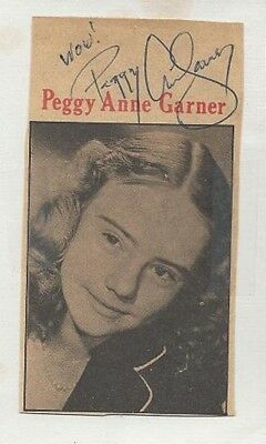 Tragic Actress PEGGY ANN GARNER Signed Magazine Image - A TREE GROWS IN BROOKLYN