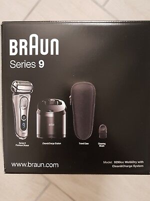 Braun Serie 9  9290 cc wet&dry with clean & charge system + 1 confezione clean