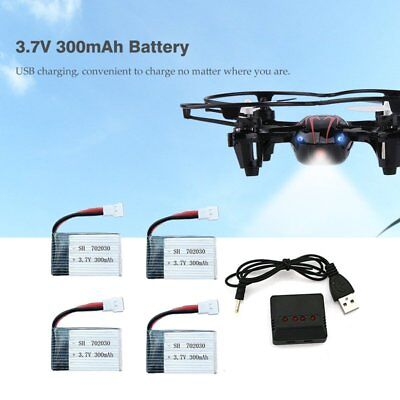 4X 300mAh Battery For 702030 Helicopter Aircraft Spare Parts Backup Battery AWFK
