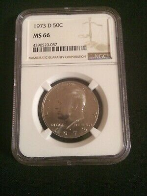 1973-D Kennedy Half Dollar NGC Gem Uncirculated MS66