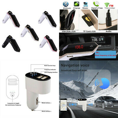 Car FM Transmitter Bluetooth V4.2  LCD MP3 Player Radio Adapter Kit Fast Charger