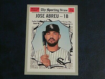 2019 Topps Heritage The Sporting News #352 Jose Abreu Chicago White Sox