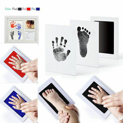 Cute Inkless Wipe Baby Kit-Hand Foot Print Keepsake Newborn Footprint Handprint