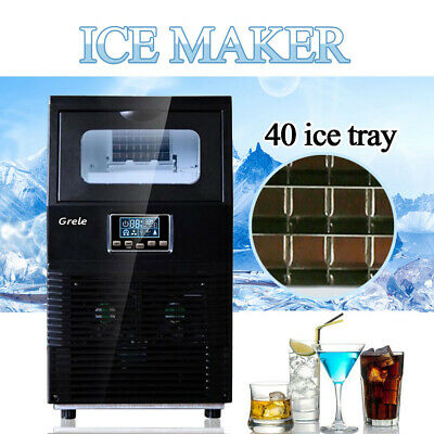 Commercial Ice Maker Stainless Steel Built-In Undercounter Freestand 88lb/24hr
