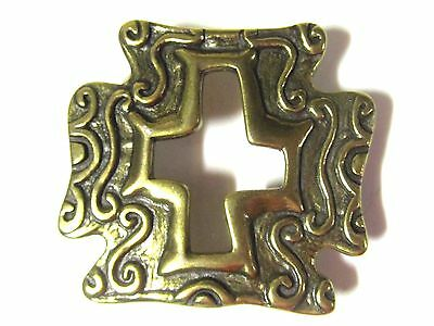 Vintage Cross Cut Out Design Belt Buckle