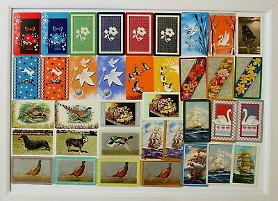 VINTAGE SWAP CARDS BULK FLOWERS BARRIBAL DOGS SHIPS DUCKS  MIX cards #37