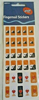Official AFL Greater Western Sydney GIANTS Fingernail Stickers x 30 (3 Designs)