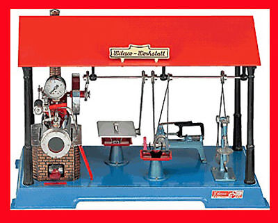Au-special Made In Germany New Wilesco D161 Steam Engine Workshop