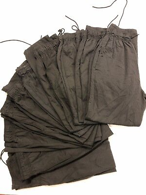 Bulk Buy Pack Of 10 Good Condition Ex-Rental Black Chefs Trouser, Size, S-M-L