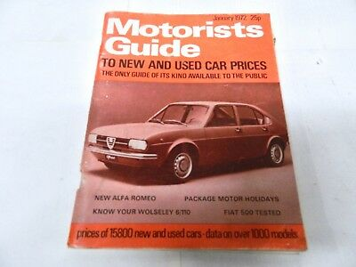 MOTORISTS GUIDE to NEW & USED CAR PRICES 1972 ref 679/B2K1
