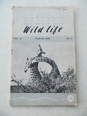 AFRICAN WILD LIFE, VOLUME 12 NUMBER 1 - March 1958