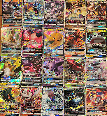 100 Pokemon Cards Bulk Lot - GUARANTEED 1x Ultra Rare GX Card +11 Rare/Holos!