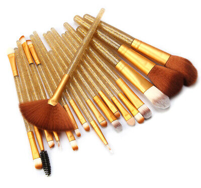 18pcs Makeup Brush Set Glitter Eye Shadow Eyeliner Foundation Lip Makeup Brushes