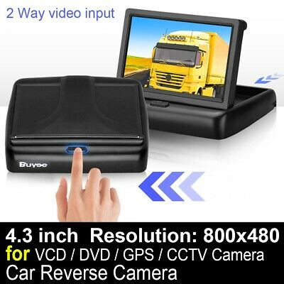4.3'' Foldable TFT LCD Car Rear View Monitor Screen For Reverse Camera DVD VCD