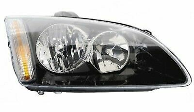 HEADLIGHTS Right In BLACK For FORD FOCUS MK2 11/04-2/08 H1 H7 HALOGEN LWR