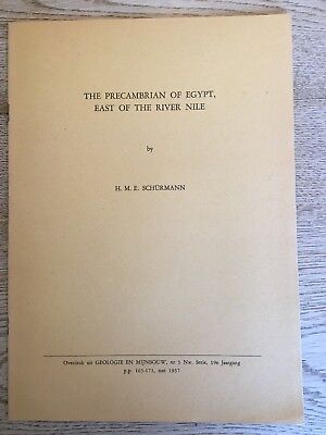 Precambrian of Egypt, East of the River Nile...geological study/H.Schurmann/1957