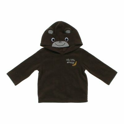 """Jumping Beans Baby Boys """"Silly Little Monkey"""" Hoodie, size 12 mo,  brown"""