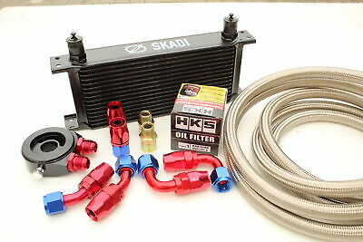 16 Row Oil Cooler Kit + HKS Filter for Subaru Impreza WRX/STi All EJ20/25