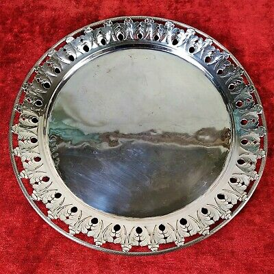 Tray. Sterling Silver. Punched. Probably Charles F. Hancock. England. Circa 1850